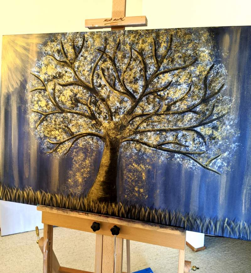 Gold Tree Landscape Commission Painting