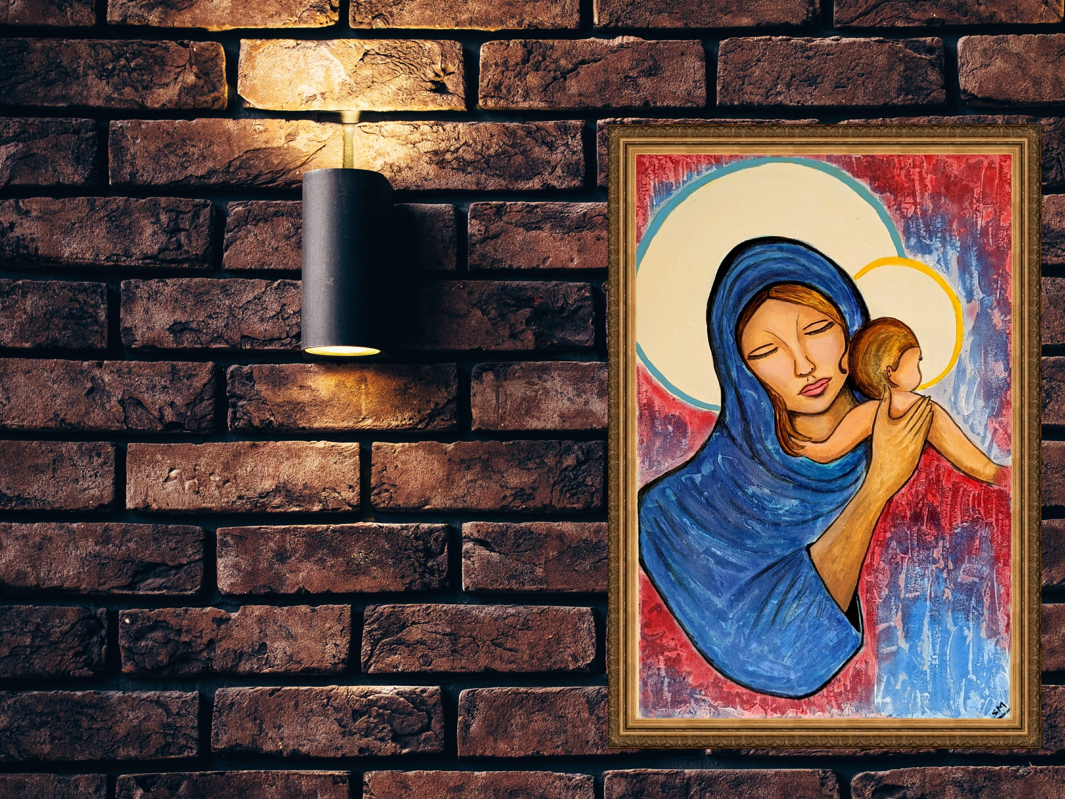 Jesus is Born on Wall Painting